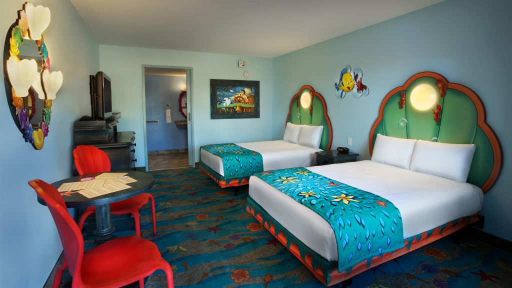 The only standard rooms available at the Art of Animation. All other rooms are family suites.